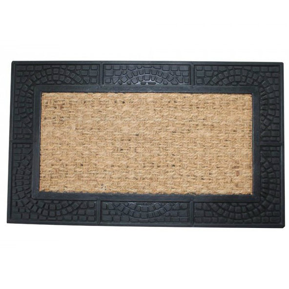 Welcome Mat With Reptile Texture Border
