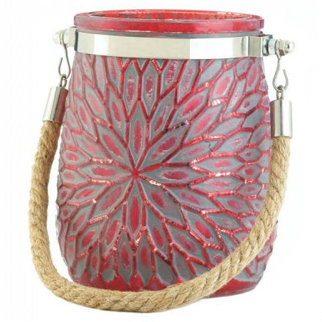 Red Flower Candleholder