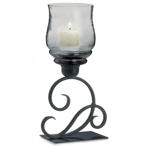 Smoked Glass Cursive Candle Stand
