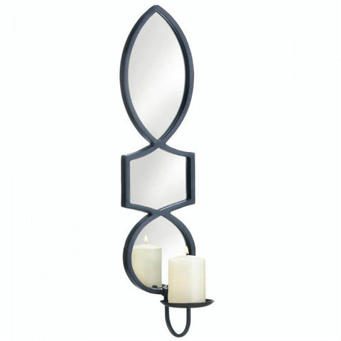 Elegant Mirrored Candle Sconce