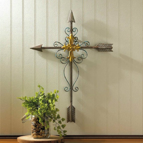 Crossed Arrow Wall Cross