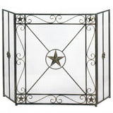 Western Star Fireplace Screen