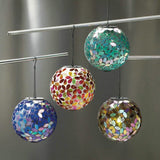 Solar Mosaic Light Ball - Shades of Blue