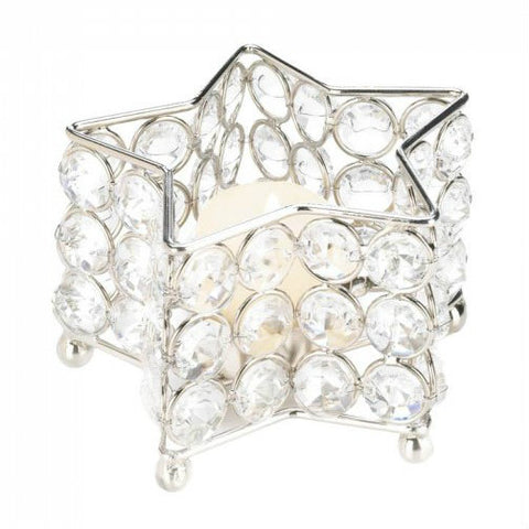 Super Bling Star-Shaped Candle Holder