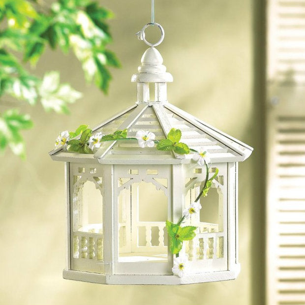 White Gazebo Bird Feeder