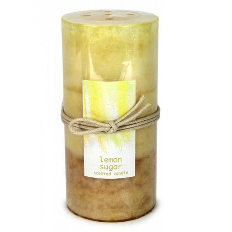 Lemon Sugar Pillar Candle 3X6