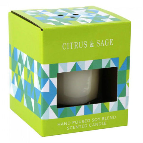Citrus & Sage Scented Candle