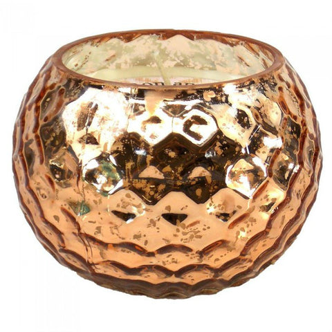 Copper-Tone Honeycomb Scented Candle