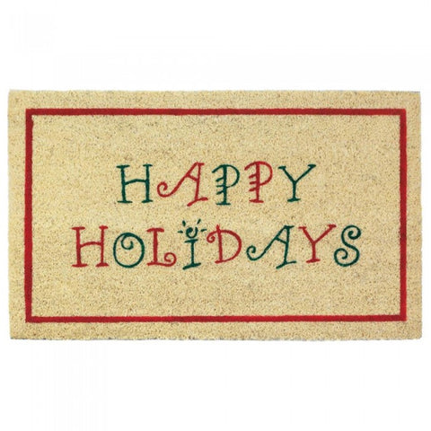 Happy Holidays Welcome Mat