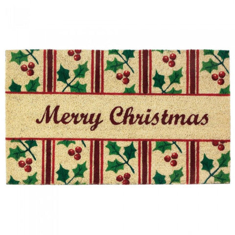 Christmas Holly Welcome Mat