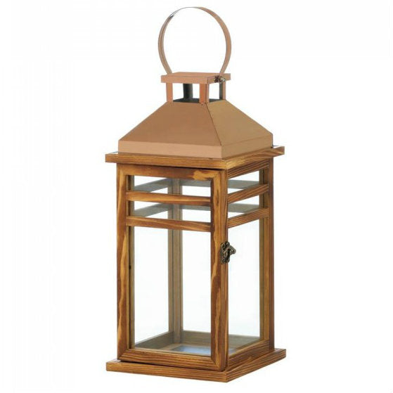 Contemporary Rose Gold Top Lantern
