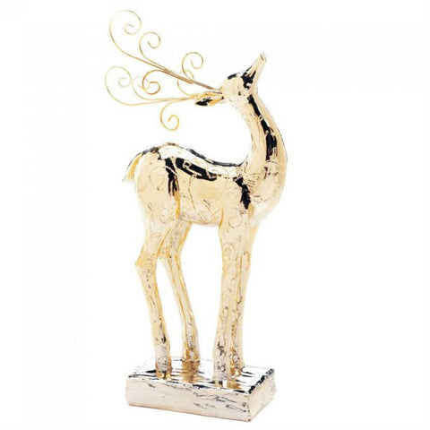 Golden Christmas Reindeer Statue - Dasher