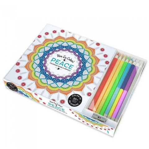 Peace Adult Coloring Book With Pencils