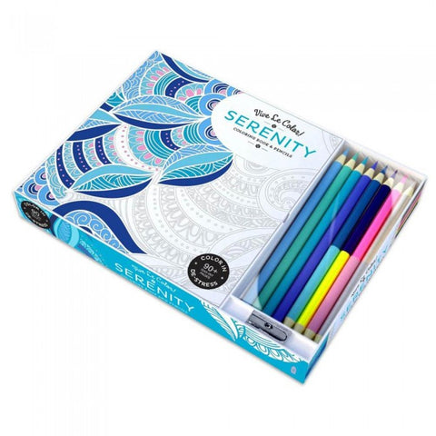 Serenity Adult Coloring Book With Pencil