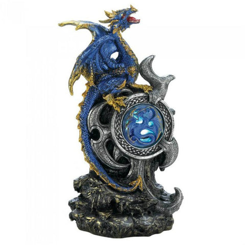 Blue Dragon With Light Up Medallion