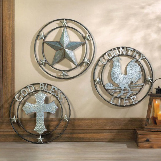 Galvanized Cross Wall Décor