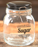 Vintage Kitchen Sugar Tea Coffee Glass Containers Jars With Lids