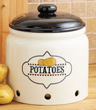 Kitchen Organization Potato Crock Freezer Safe Kitchen Accent Decor Holder Storage Jar - Potatoes Crock on for Kitchen - Keep Your Veggies Fresh