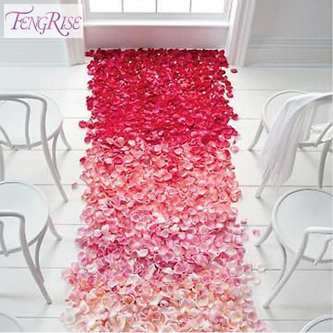 500pcs Silk Rose Petals Table Artificial Flowers Wedding Party Supplies