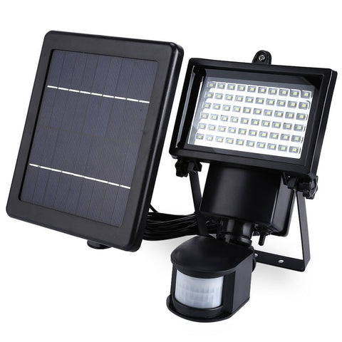 60 LED Solar Power PIR Motion Detector Security Spot Lighting