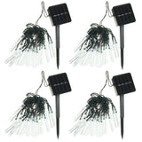 20 Solar Powered LED Ice Garden String Lights Decorations