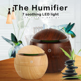 USB Aroma Oil Diffuser Ultrasonic Humidifier Air Purifier 7 Color Change LED