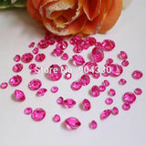 850pcs/lot/color Mix 4 Sizes Acrylic Crystal Diamond Confetti Wedding Party Decoration