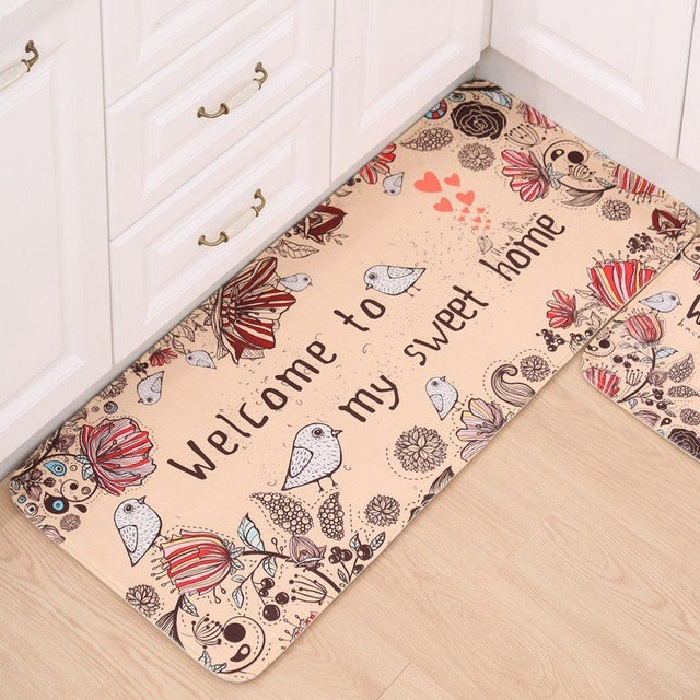 Kitchen Non-Slip Printed Area Floor Mat Rugs Many Styles