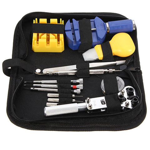 13pcs Watch Repair Tool Kit Set Case Opener, Link Spring Bar Remover, Tweezers