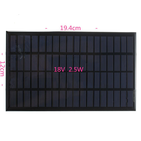 18V 2.5W Polycrystalline Stored Energy Power Solar Panel Module System