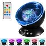 Ocean Wave Sky Aurora LED Projector Lamp Nightlight Music Player