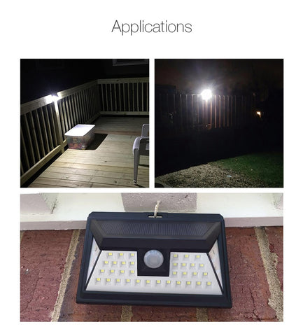 44 LED PIR Motion Sensor Solar Power Emergency Pathway Light