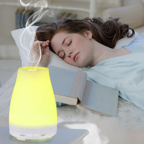 Color Changing LED Ultrasonic Humidifier Aromatherapy Oil Diffuser
