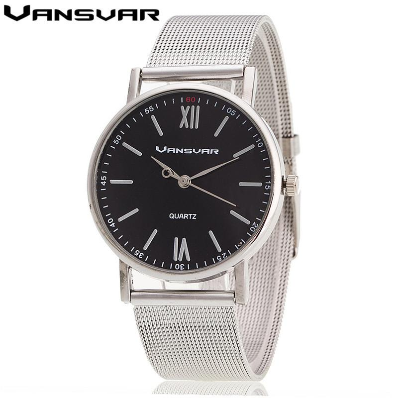Women's Style Silver Band Wristwatch Quartz Casual Watches