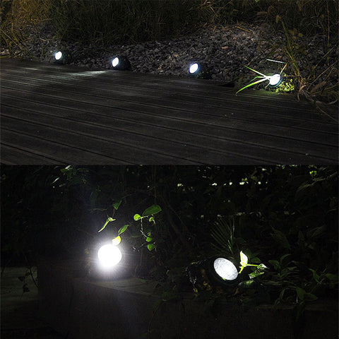 4 LED Solar Decorative Rock Stone Pathway Light Waterproof