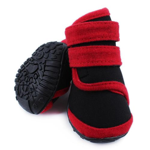 4 pcs Pet Waterproof Boots Protective Shoes All Weather Huskies Large Dog Booties Socks