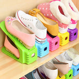 Colorful Double Adjustable Layer Shoe Storage Rack Organizers