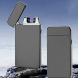 USB Dual Arc Metal Flameless Torch Rechargeable Windproof Lighter