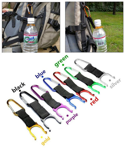 1pc camping Carabiner Water Bottle Buckle Hook Holder Clip For Camping Hiking survival Traveling tools