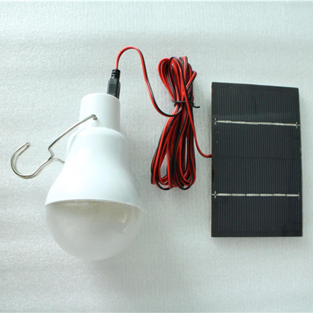150Lumen Solar Power LED Bulb Lamp & Solar Panel Outdoor Lighting