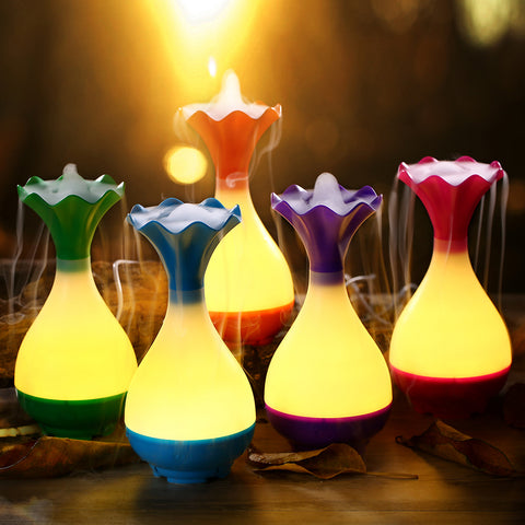 LED Night Light Mist Purifier Atomizer Aroma Diffuser