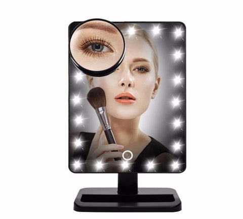 12'' Large Lighted Makeup Mirror with 20/24 LEDs Lights