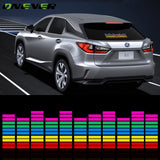 LED Music Rhythm Sound Activated Equalizer Window Car Sticker  45*11cm