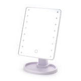 Touch Screen Makeup Mirror With 16 LED Lights & 360 Degree Rotation