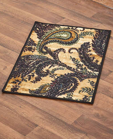 Decorative High-Traffic Floor Rug Paisley Decor Rugs And Runners