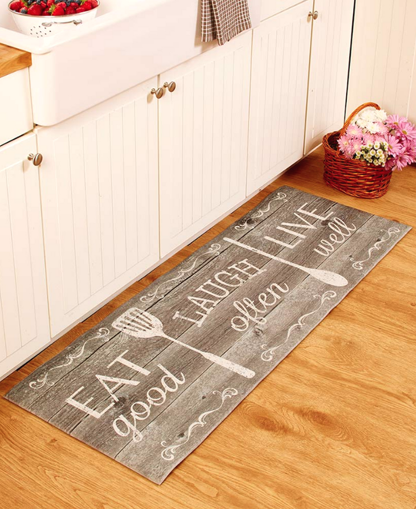 "55"" Kitchen Cushion Floor Runner Eat Laugh Live Decorative Decor"