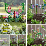 Solar Powered Garden Ground Stakes - Butterfly, Dragonfly, Hummingbird