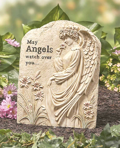 Engraved Oversized Memorial Garden Angel Statue