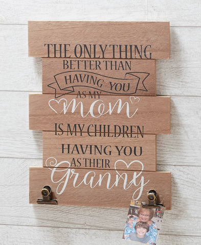 Granny Love Quote Wall Hanging Decor With Photo Holders