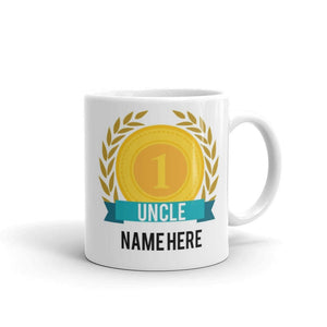 World's Number One Uncle Gift Mug Personalised Name Family Best Tea 1 New - Riviera Mugs